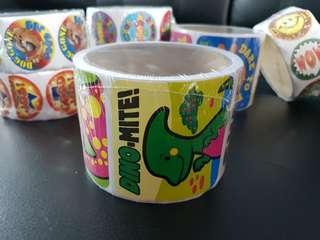 [INSTOCK] BN Roll of Jumbo Dinosaurs Reward/Merit Stickers (Oriental Trading)