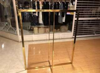 2 pcs Gold Color clothing display rack