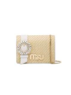 Miu Miu bag with crystal clasp