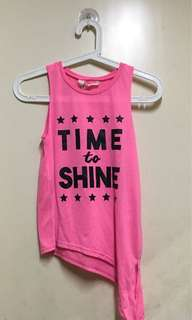 H&M Sleeveless Shirt With Motto