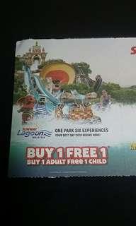 Sunway Lagoon Buy 1 Free 1