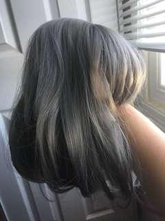 Silver - grey wig