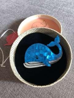 Erstwilder Wesley Whale Pin Brooch