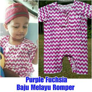 BN Purple Baju Melayu Romper