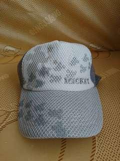 迪士尼 米奇 灰色 帽子