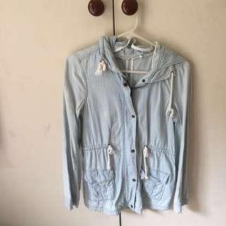 Denim anorak jacket