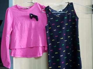 女童二件式洋裝(秋冬)