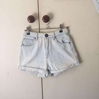 Abrand washed denim shorts