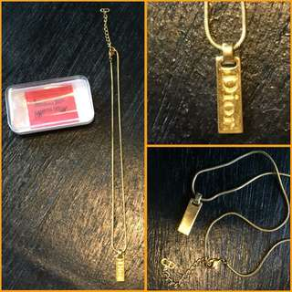 Christian Dior Short Necklace with Dior Pendant