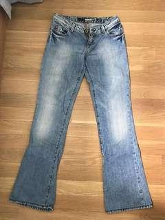Miss Sixty blue denim jeans extra low cut