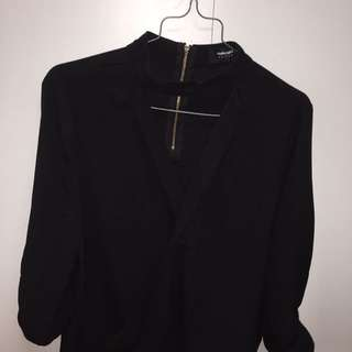 Blouse With Choker Neck Style