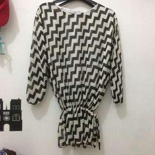 White black blouse