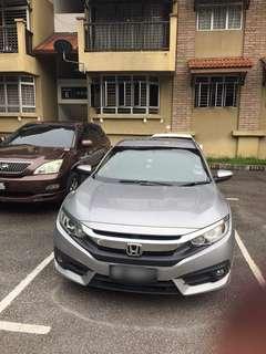 Honda Civic FC utk disewa KL Selangor