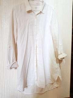 🚚 glordano米白長版襯衫