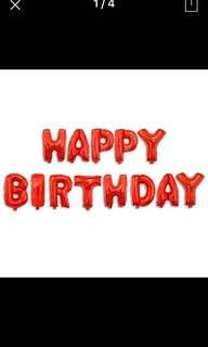 Happy birthday red balloon