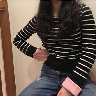 Ribbed striped jumper