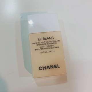 🚚 二手9成量!Chanel 香奈兒淨白防護妝前乳 SPF40/PA+++