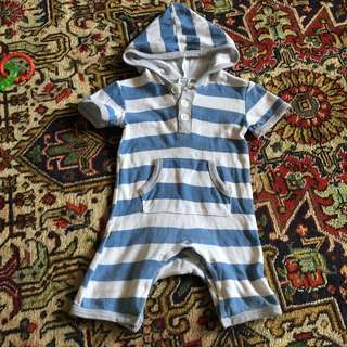 Stripes Playsuit tagging 0-3 month
