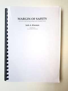Margin of Safety by Seth A.Klarman ( Hard Copy )