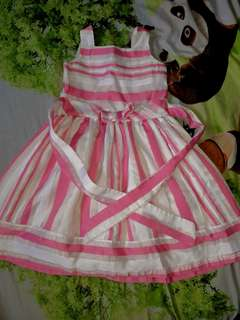 Little Miss Pink and White Dress