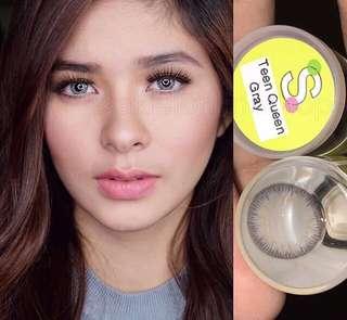 Gray Contact Lense with Case