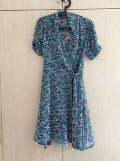Vintage wrap DVF inspired dress