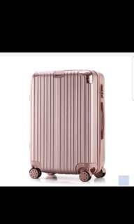 Rose gold aluminium luggage 24 inch