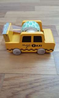Wooden NYC Taxi Tape Dispenser