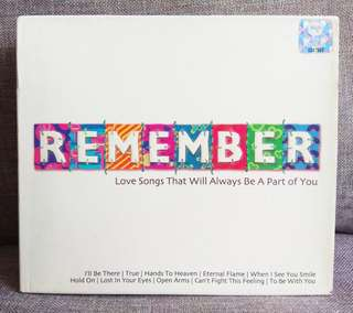 arthcd REMEMBER : Love Songs 2CD (ESCAPE CLUB, SPANDAU BALLET, PETER CETERA, BREATHE, FOREIGNER, AIR SUPPLY, JOURNEY, MR BIG, BILLY JOEL, BAD ENGLISH, CHICAGO, CARS, STARSHIP, DEBBIE GIBSON, DAVID GATES, PAUL YOUNG, BANGLES, CLIMIE FISHER, CYNDI LAUPER..)