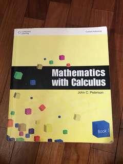 Mathematics with Calculus Book 1