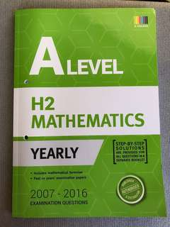 A Levels H2 Math Yearly TYS