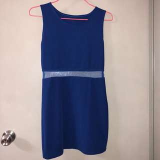 Sexy Electric Blue Dress