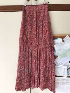 Dotti patterned maxi skirt