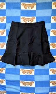 全新 黑色 魚尾短裙