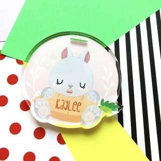 🚚 CUSTOM BAGTAG - bunnies rabbit