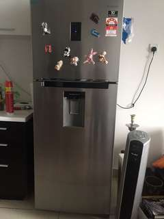 samsung fridge with water disaper inside