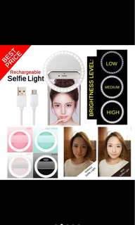 RECHARGEABLE SEFIE RING-LIGHT