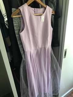 Brand new lilac purple tulle dress size m