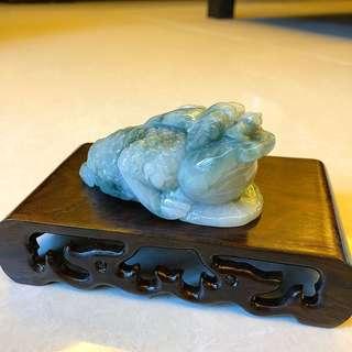🔶招財三腳蟾🔶💰💰 天然翡翠A玉,會有天然石紋,包平郵📮📦📪