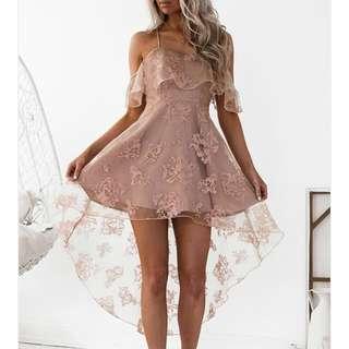 Pink Blush Off shoulder dress