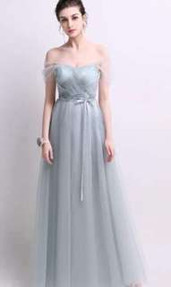 Beautiful long gray gown