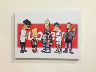 Supreme canvas wall art size A3