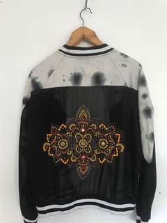 Embellished Back // Tie Dye // Sheer Bomber Jacket