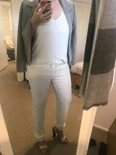 Relaxed Fit White Pants