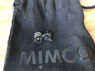 Mimco Silver Plus Sign Stud Earrings
