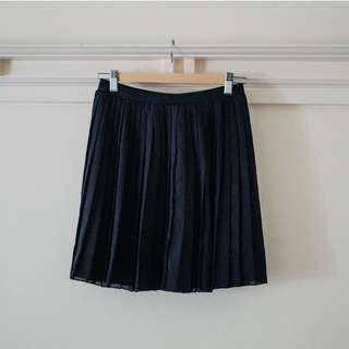 Uniqlo High Waist Chiffon Pleated Skirt