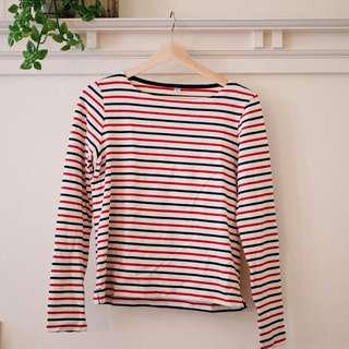 Striped Red/Black Crewneck Sweater