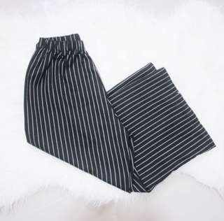 Black and White Stripes Culottes