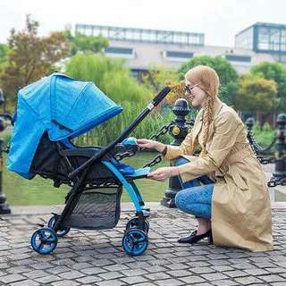 Hope folding Stroller ( high quality)  6.1kilo items 40kilo kaya Pwd higa /Ilagay ang kopa/Adjust the handle direction/A button to fold/Shocks 3color : blue green violet