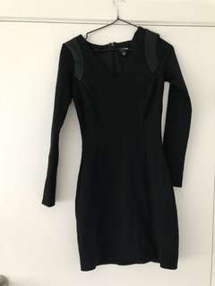 Forever new black bodycon dress size 6 rrp $99.95